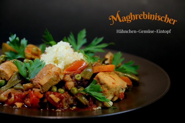 Nordafrikanischer Eintopf, nordafrikanische Küche, marokkanische Küche, Slowcooker