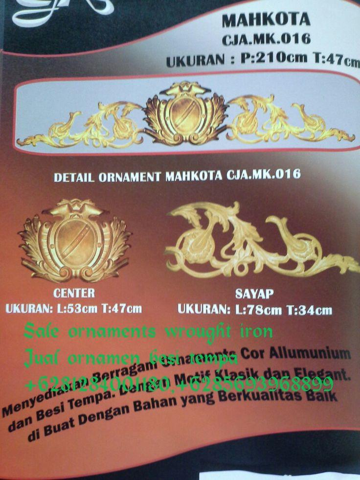 Menjual ornamen aluminium cor besi tempa