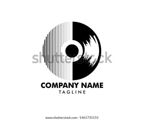 Temukan Gambar Stok Vinyl Record Logo Template Design Vector Beresolusi Hd Dan Jutaan Foto Ilustrasi Dan Vektor Stok In 2021 Logo Templates Template Design Templates