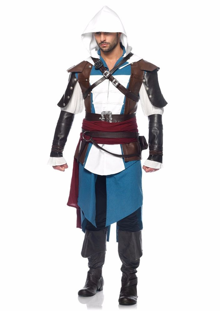Assassins Creed Edward Kenway Costume Deluxe Black Flag Halloween Adult S/M #UbisoftandLegAvenue #CompleteOutfit