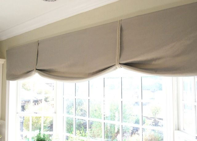 valances for kitchen windows | ... also created this simple no sew valance  for