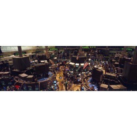 Stock Exchange NYC New York City New York State USA Canvas Art - Panoramic Images (36 x 12)