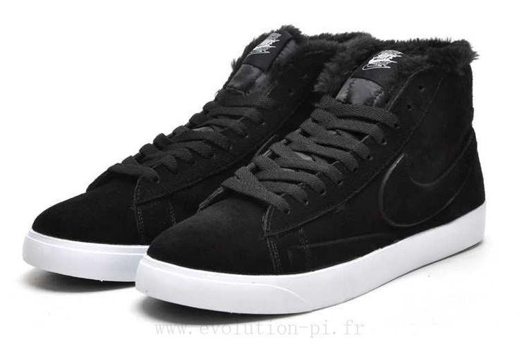 Nike Blazer virgule noire fourrure