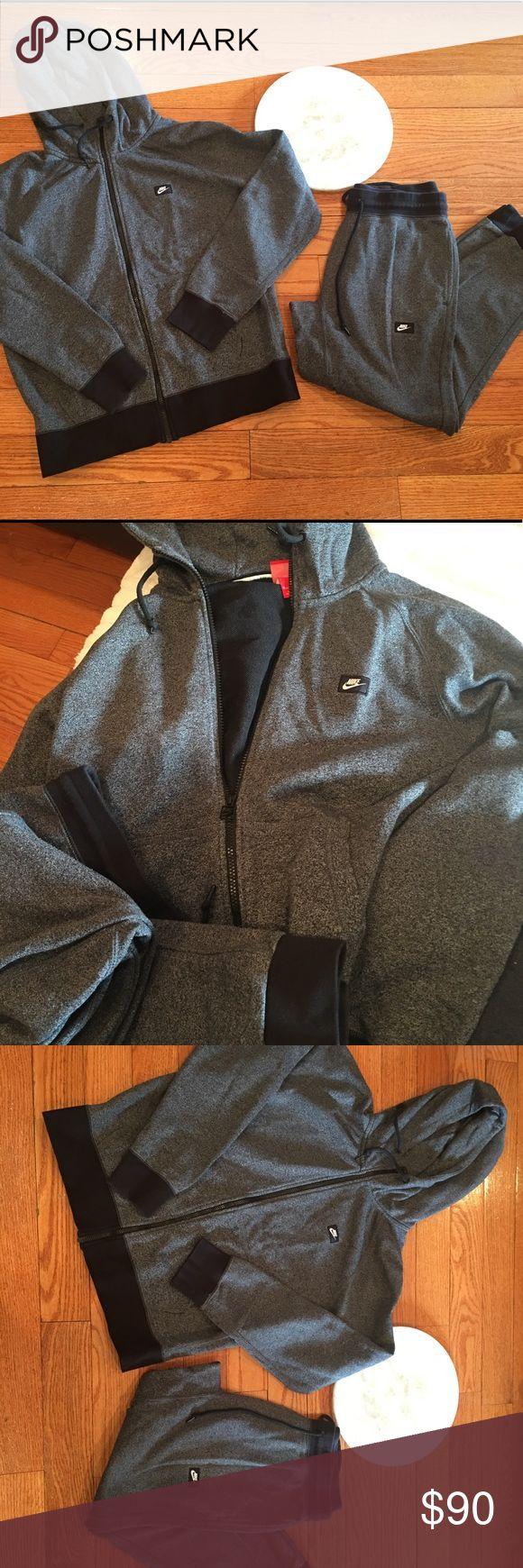 Nike jogging sweat suit set hooded skinny men Nike jogging sweat suit set hooded skinny men. Size medium Nike Jackets & Coats Performance Jackets