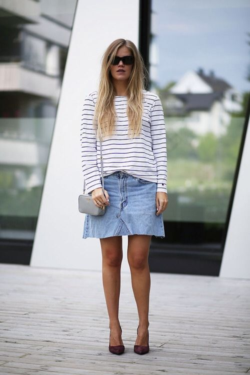 75 best images about buy less, think more: denim skirt on ...