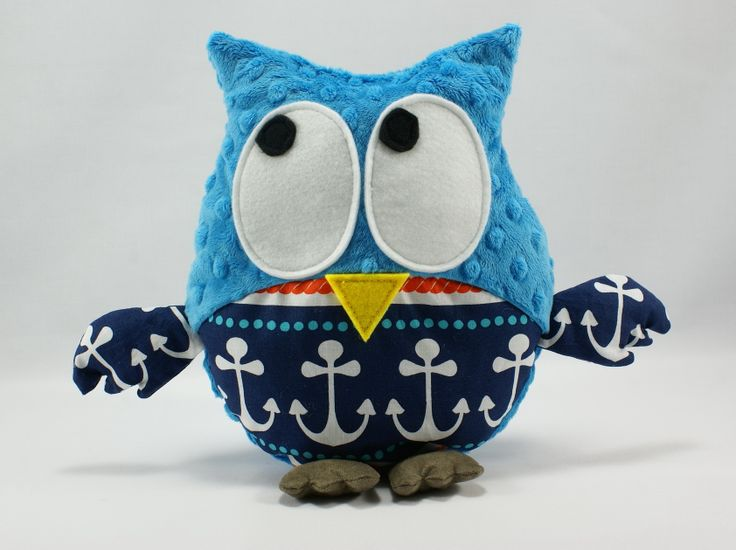#anchor #owl #littlesophie #sea Gustav owl available on http://www.littlesophie.pl/pl/glowna/541-gustaw-w-kotwice.html