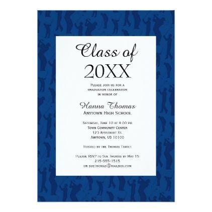 Blue Golf Theme Graduation Card Invitations Custom Unique Diy Personalize Occasions