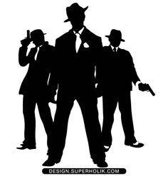mafia | Order MAFIA GANGSTER SILHOUETTE .eps vector file @ $3.75 Qty :