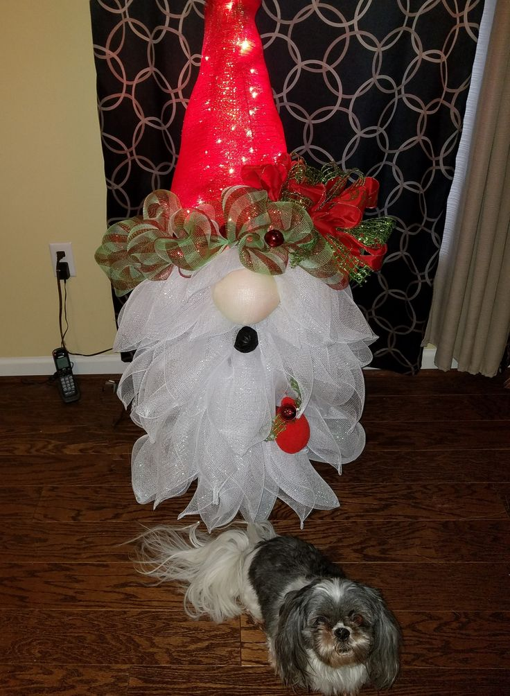 DIY craft projects TUTORIAL Santa Gnome Christmas tree