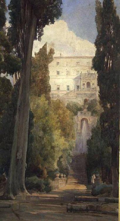 "Ettore Roesler Franz ""The Villa d'Este, Tivoli"""
