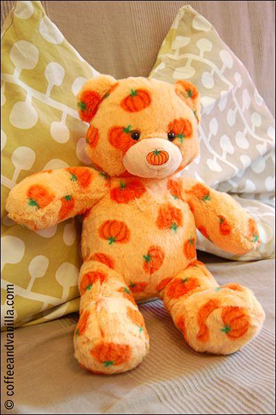 Halloween Pumpkin Pal Teddy from Build-A-Bear Workshop