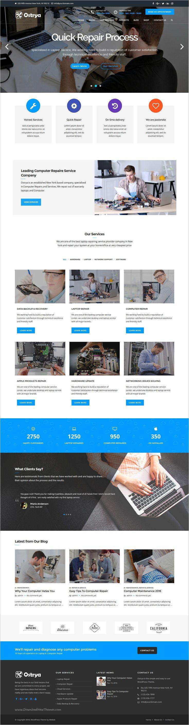 Ostrya is a wonderful 3in1 Premium #WordPress theme designed for #webdev electronics & #Laptop repair #service companies website download now➩ https://themeforest.net/item/ostrya-computer-repair-service-wordpress-theme/18894141?ref=Datasata