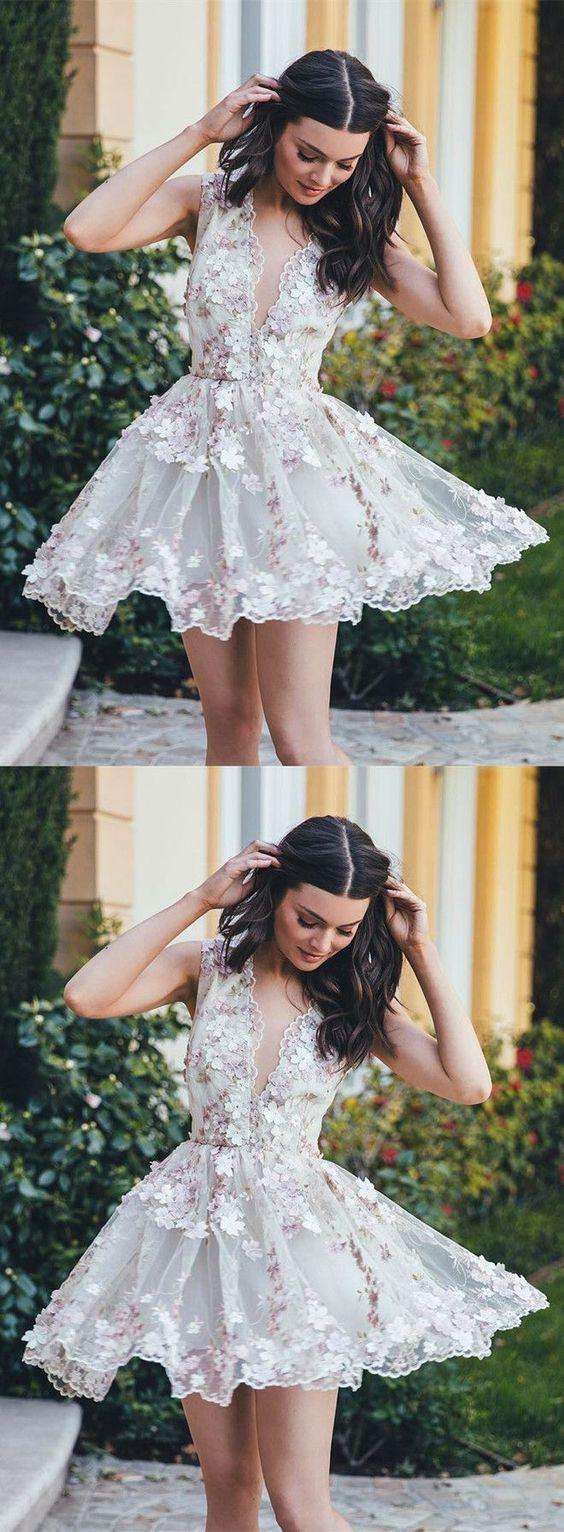 short homecoming dress,homecoming dresses,homecoming 2017 lace Short Prom Dresses