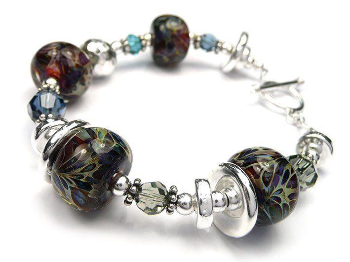 Lampwork Glass Bracelet - Nymph