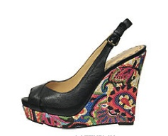 A dash of black and a flash of floral.  Nine West