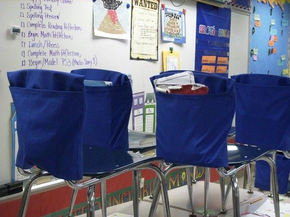 school chair pockets