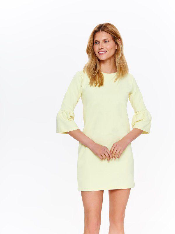 ad2cb4ce26 W2018 Sukienka damska żółta - sukienka - TOP SECRET. SSU2160 Świetna  jakość