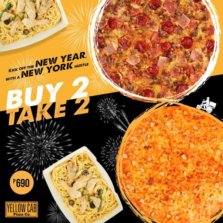 Buy 2, Take 2 New York Hustle Promo @ Yellow Cab. CLICK HERE for more details: https://dealspinoy.com/buy-2-take-2-new-york-hustle-promo-yellow-cab/ #DealsPinoy