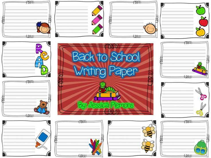 FREE Writing Paper for Back to School