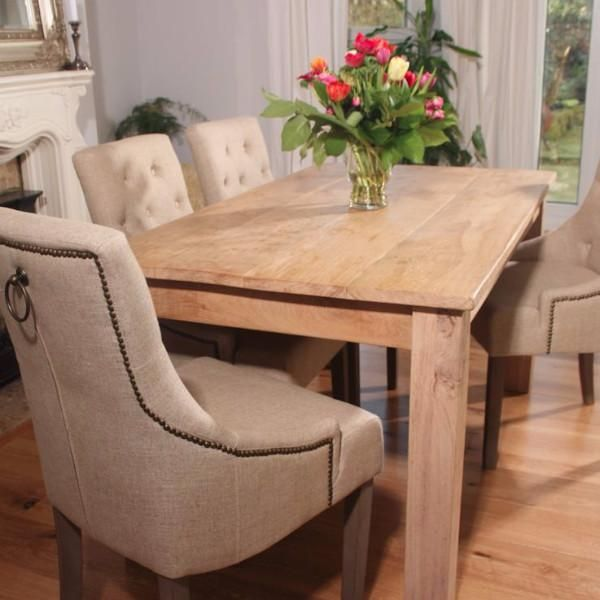 Rustic Oak Farmhouse Extendable Dining Table   Modish Living   Handmade In  The UK