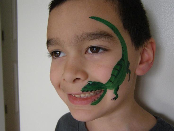 Crocodile Face Paint Easy