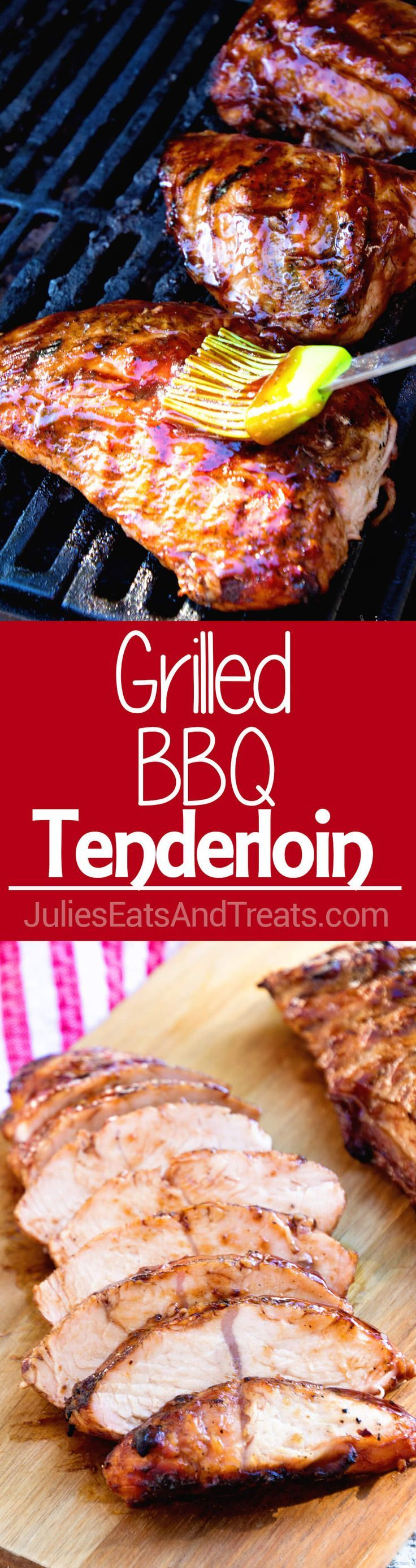 Grilled BBQ Tenderloin ~ Turkey Tenderloin Marinated in BBQ Sauce and Grilled to Perfection! Light, Healthy, Low Carb Meal! @jennieorecipes #ad