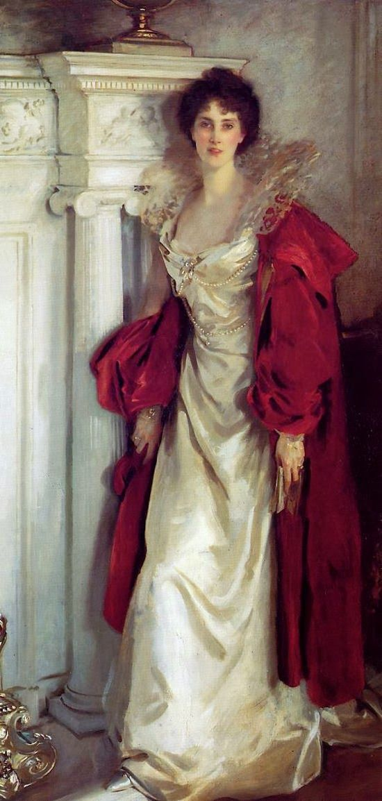Gods and Foolish Grandeur: Sargent: white with red  Winifred, Duchess of Portland, 1902