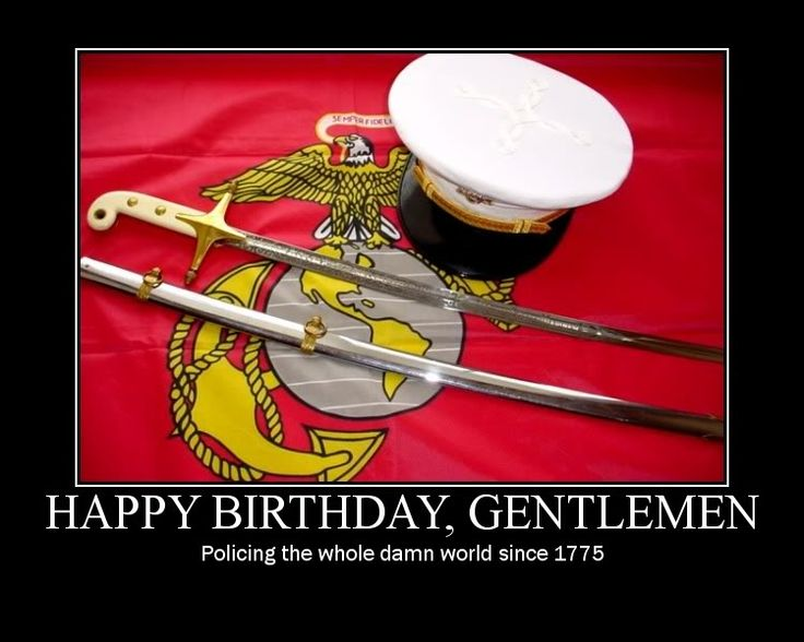 Happy Birthday, Marines.  237 glorious years of service to our nation.