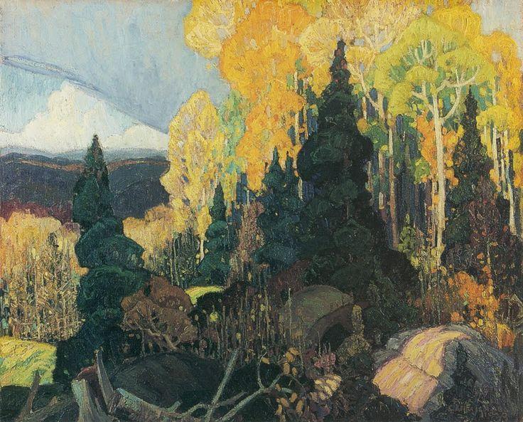 Franklin Carmichael, 1890-1945, Autumn Hillside, 1920