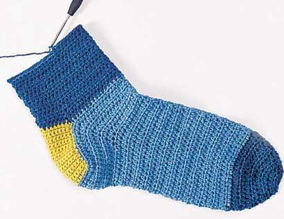 Учебный курс по вязанию носков крючком из журнала «Сабрина. Специальный выпуск» 4/2015