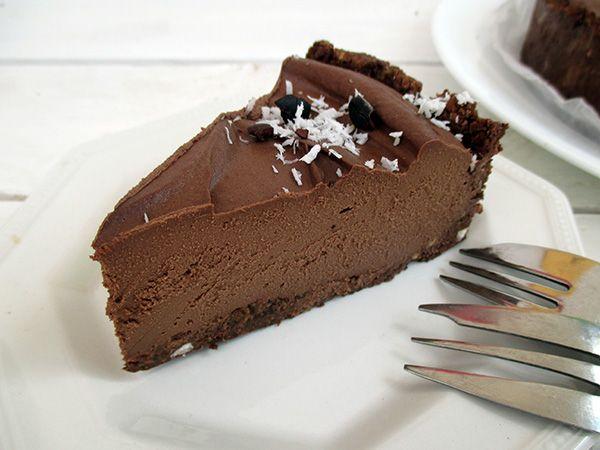 Schokoladenkuchen: roh, sojafrei, zuckerfrei und nussfrei