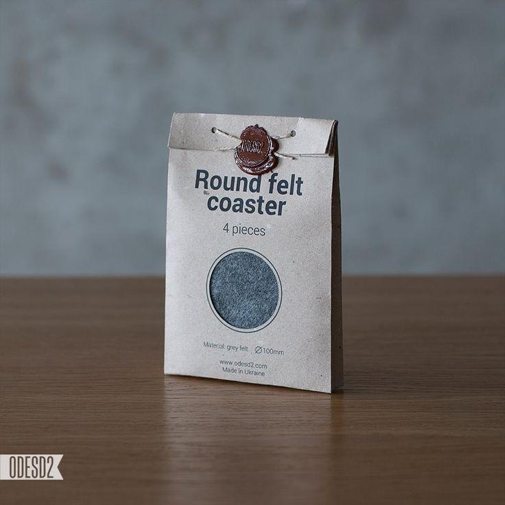 Round felt coaster by ODESD2