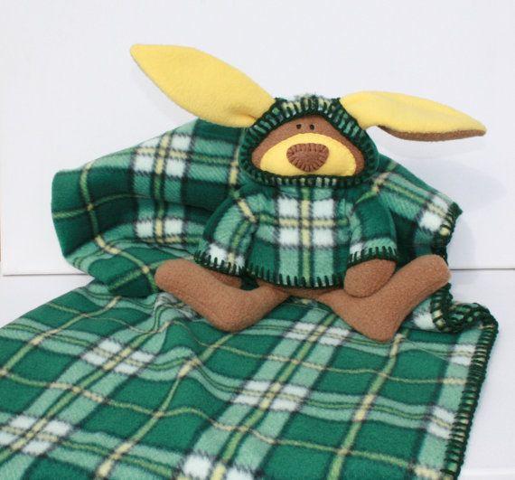 McPlaid Bunny Blankie Cape Breton Tartan by TwistedKnickersInc, $59.00