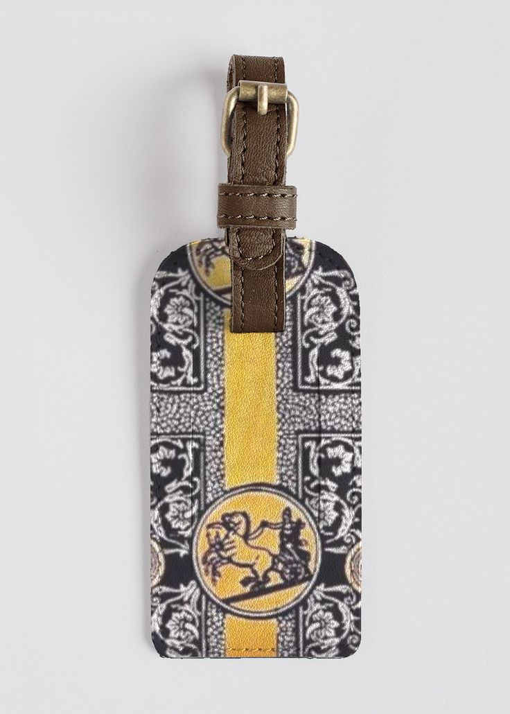 VIDA Leather Accent Tag - Square 1 by VIDA crSn3