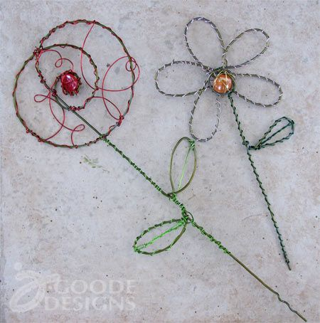 Making wire garden art
