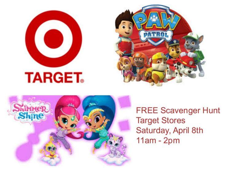 *Reminder* Paw Patrol and Shimmer Shine Scavenger Hunt at Target Stores on 4/8!!