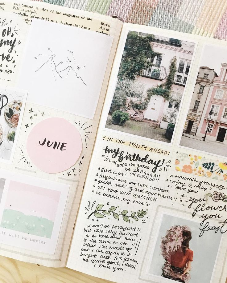 "Polubienia: 2,898, komentarze: 37 – ✨ cheyenne ✨ (@studyrose) na Instagramie: ""a little closer look at my june spread cause i love it a lot ✨"""
