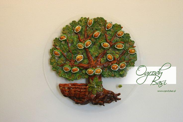 Prezent na rocznicę ślubu ręcznie wykonane drzewo genealogiczne www.ogrodybasi.pl #prezent #na  #25 #30 #40 #50 #rocznica #slub #jubileusz #gody #urodziny