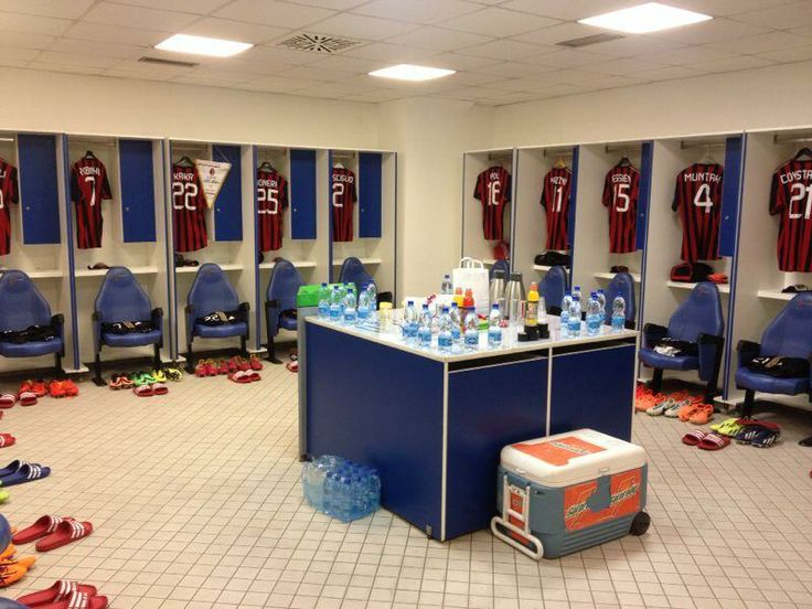 Milan locker room