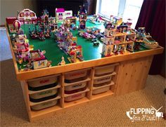 Flipping for First: DIY LEGO Table!  This is the best project idea to keep all those LEGO's in one place!