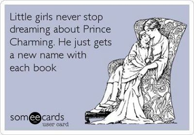 Little girls never stop dreaming about Prince Charming. He just gets a new name with each book.