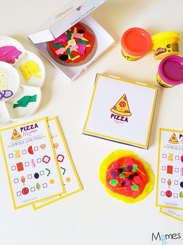 """Un jeu de pizza à imprimer pour jouer """"à faire semblant"""" mais également un jeu d'apprentissage !"""