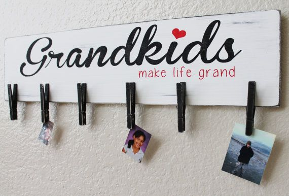 Grandkids... Make Life Grand Clothespin Sign by Signable on Etsy, $34.45