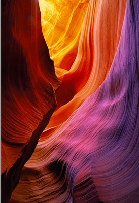 Slot canyon by Peter Lik.