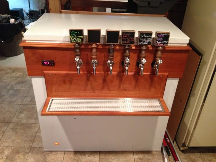 Drilp tray keezer build pinterest trays homebrewing and bar Home bar furniture with kegerator