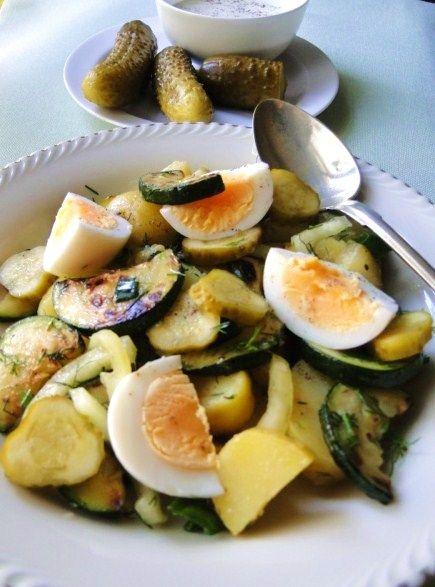 smaki i aromaty: Obiadowa sałatka na upalny dzień