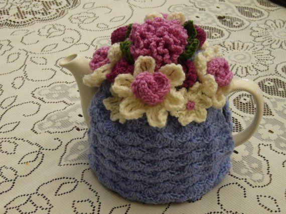 Crocheted Flower Tea Cosy