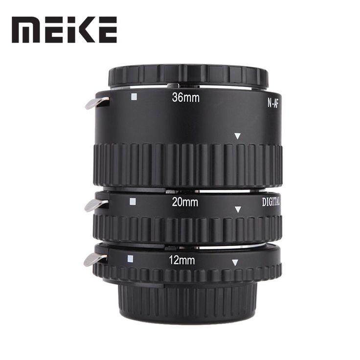 Best price US $33.25  Meike Auto Focus Macro Extension Tube Set Ring N-AF1-B for Nikon D7100 D7000 D5100 D5300 D3100 D800 D600 D300s D300 D90 D80  #Meike #Auto #Focus #Macro #Extension #Tube #Ring #NAFB #Nikon  BestBuy