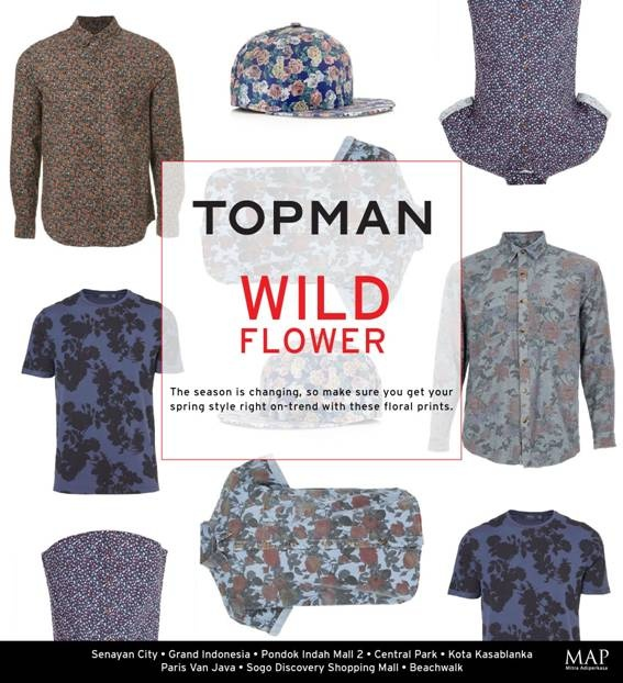 Who says flowers are just for the ladies? TOPMAN takes floral on a manly spin