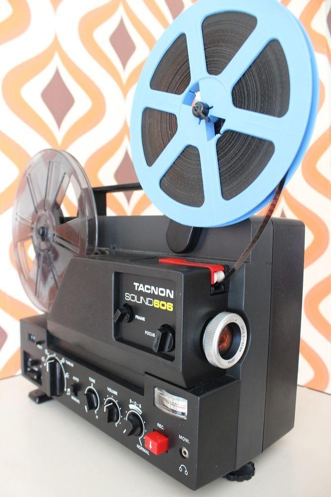 TACNON 606 SUPER 8 8MM SOUND RETRO CINE FILM MOVIE PROJECTOR - Good
